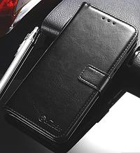 Кожаный чехол-книжка для Huawei Honor 9 Lite черный