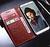 Кожаный чехол-книжка для Huawei Honor 9 Lite черный, фото 2
