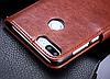 Кожаный чехол-книжка для Huawei Honor 9 Lite коричневый, фото 4