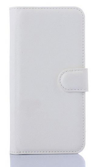 Кожаный чехол-книжка для  HTC One M9 белый