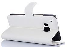 Кожаный чехол-книжка для  HTC One M9 белый, фото 3