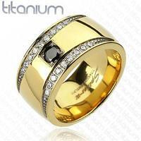 Титановый перстень с камнями