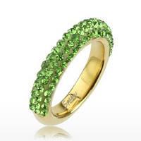 Женское  кольцо из ювелирной стали Crystal Swarovski