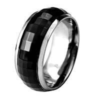 Мужское кольцо из ювелирной стали  black