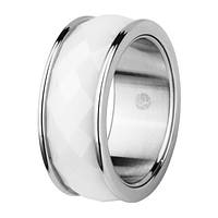 Женское  кольцо из керамики  стальное