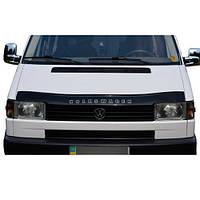 Дефлектор капота, мухобойка VW T4  1990-1998 прямая фара VIP