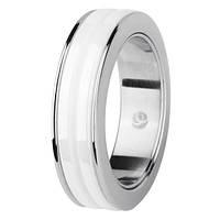 Женское  кольцо из керамики  charming ceramic стальное