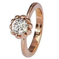 Женское  кольцо из ювелирной стали Сhic с позолотой