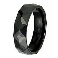 Мужское кольцо из Карбид Вольфрама man power black