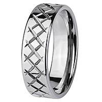Кольцо из ювелирной стали с резьбой стальное 5мм