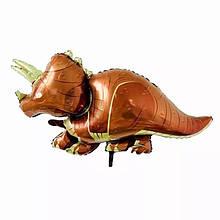 Фольгований велику повітряну кулю динозавр трицератопс 110*60 см