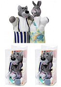 """Кукольный театр """"ВОВК І ЗАЄЦЬ"""" (2 персонажі), в кор. 19*8*8см"""