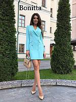 Женское элегантное платье на пуговицах (расцветки), фото 1