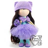 Лялька Шатенка з букетом, велика