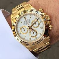 Мужские наручные часы Rolex Daytona (механика) (золотой хронограф) / Механические