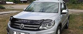 Дефлектор капота, мухобойка VW TIGUAN с 2008г.в VIP