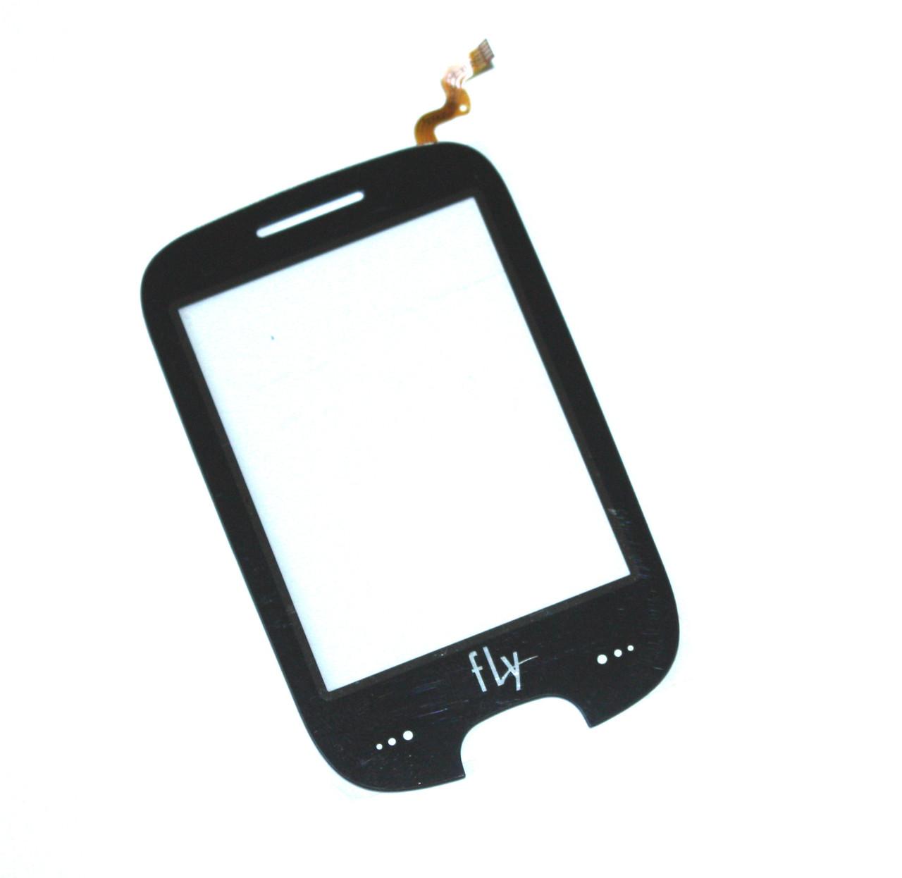 Сенсорный экран (тачскрин) Fly E155 чёрный ориг. к-во