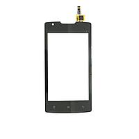 Сенсорный экран (тачскрин) Lenovo A1000 (смартфон) чёрный ориг. к-во