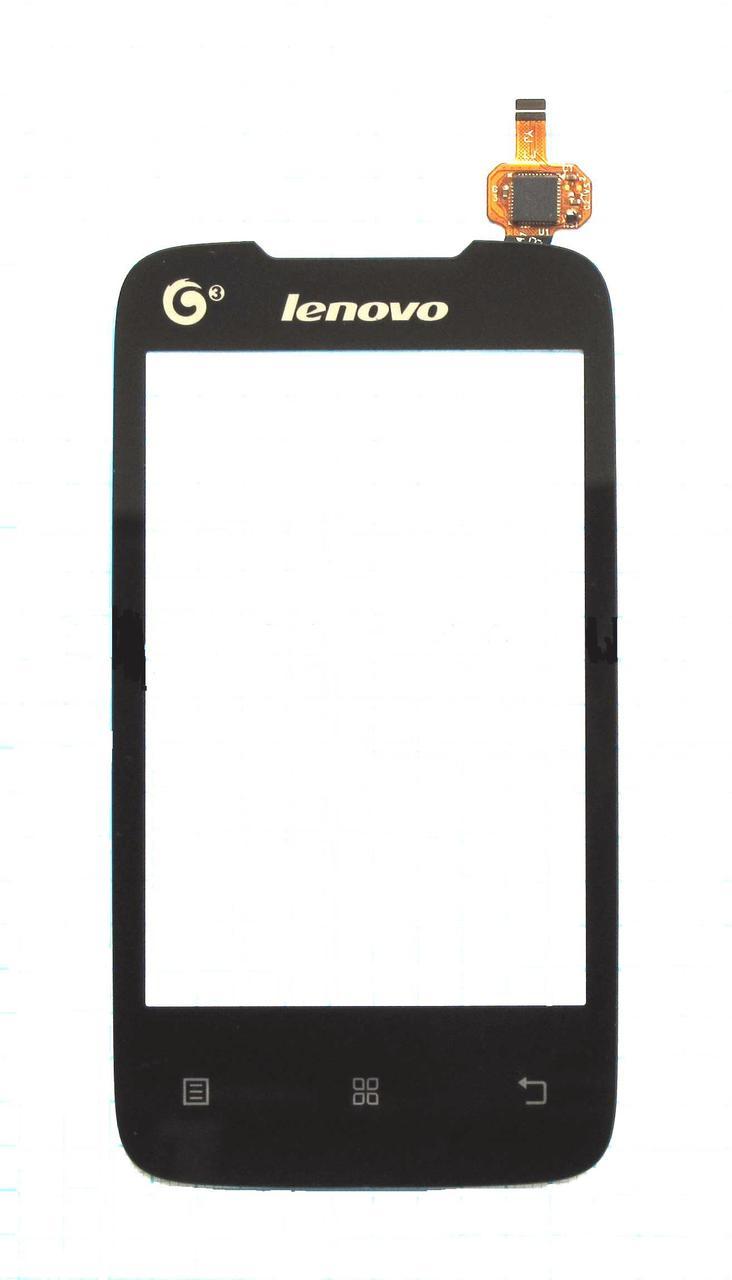 Сенсорный экран (тачскрин) Lenovo A208 чёрный
