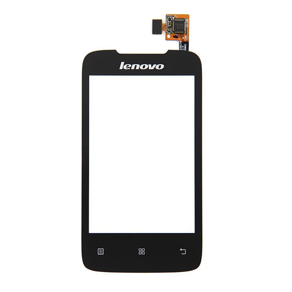 Сенсорный экран (тачскрин) Lenovo A269 чёрный ориг. к-во