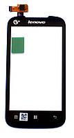 Сенсорный экран (тачскрин) Lenovo A318 | A369 чёрный ориг. к-во