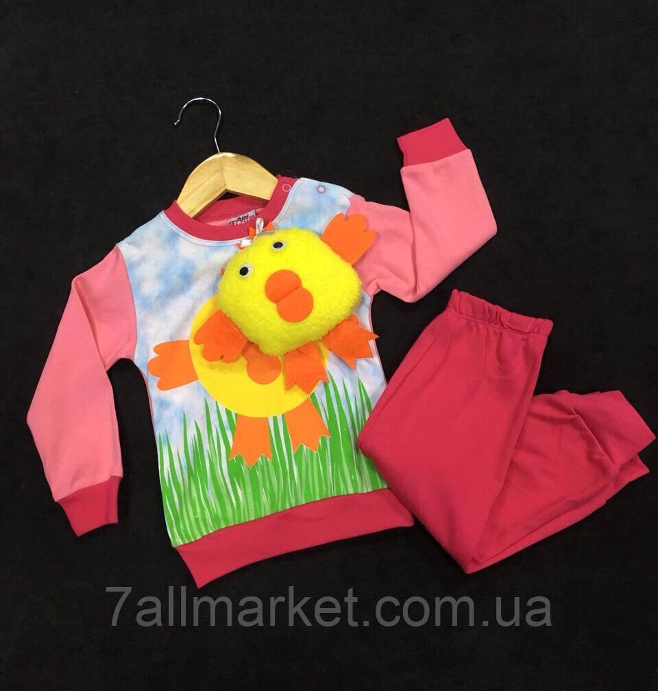 e8b03539f8f6 Пижама детская трикотажная с игрушкой на девочку 74-86 см Серии