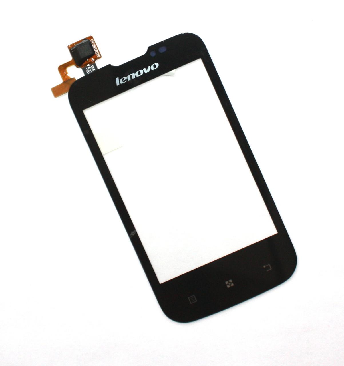 Сенсорный экран (тачскрин) Lenovo A60+ чёрный ориг. к-во