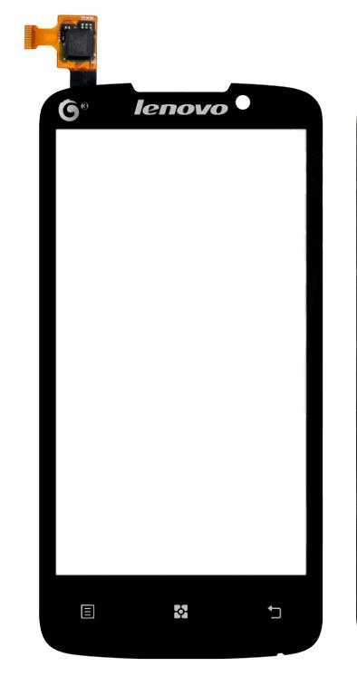 Сенсорный экран (тачскрин) Lenovo A670 чёрный ориг. к-во