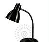 Настольная лампа  E27 LMN098 черная с выключателем