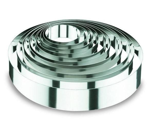 Форма круглая 20х6см из нержавеющей стали для выпечки торта Lacor