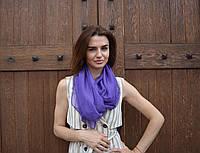 Шарф шелковый фиолетовый Дом Шарфов, фото 1