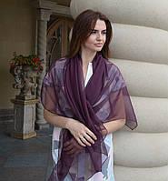 Шарф шелковый цвета марсала Дом Шарфов, фото 1