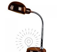 Настольная лампа  E27  LMN101 бронзовая с выключателем, фото 1