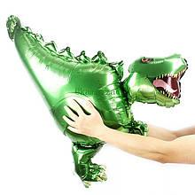 Фольгований повітряний величезний куля динозавр спинозавр 99*75 см