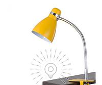 Настольная лампа  E27 LMN103 с зажимом желтый, фото 1