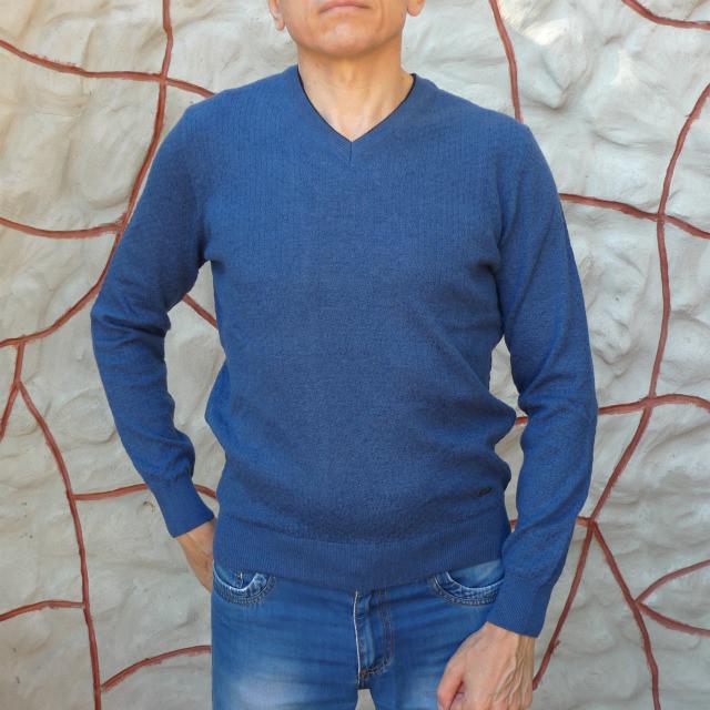 Пуловер мужской светло-синий Tony Montana