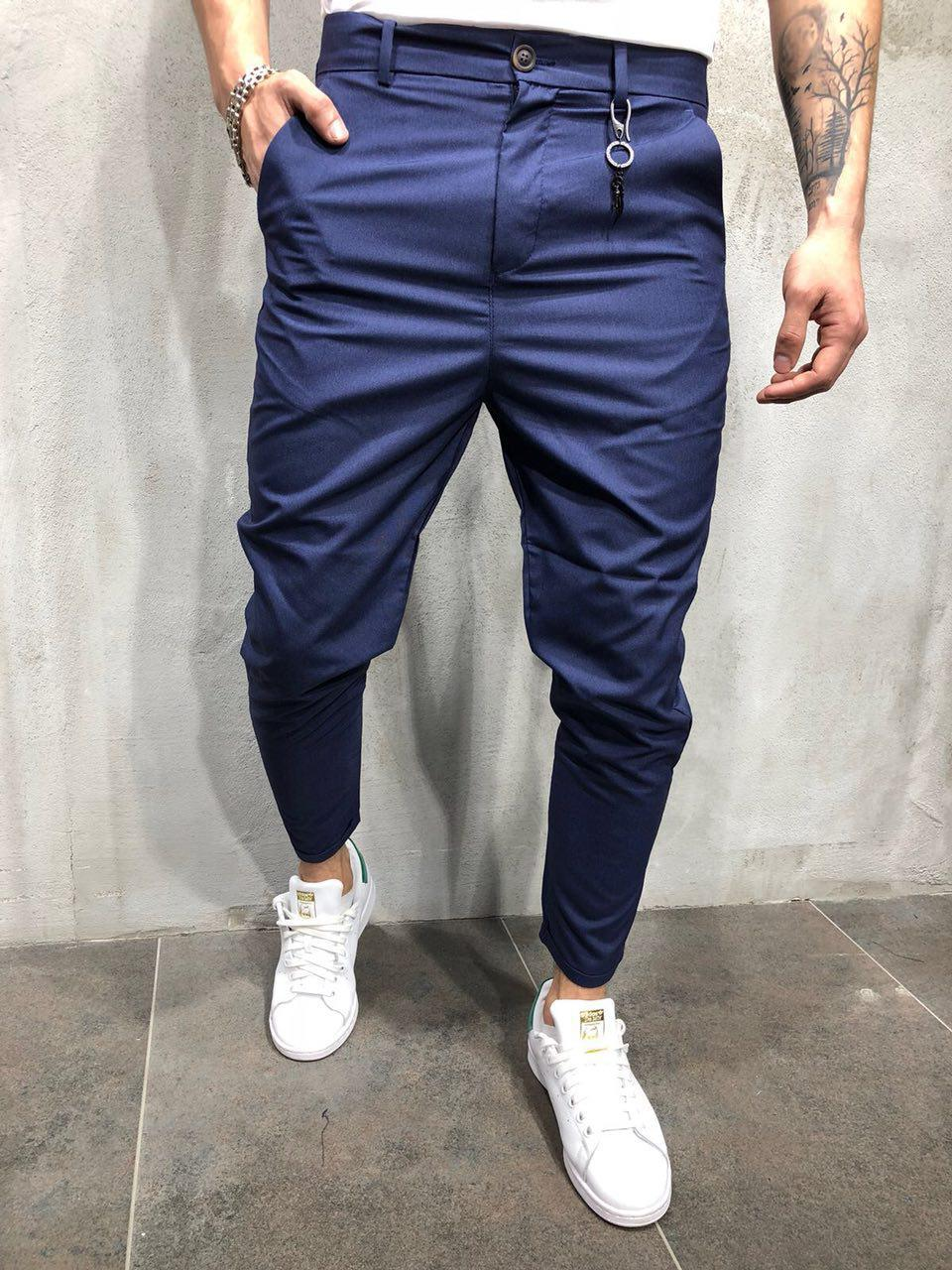 7aacc268af20 Мужские Модные Брюки Классические Цвета Нави — в Категории