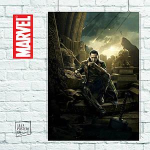 Постер Локи из фильма Тор: Тёмный Мир (60x85см)
