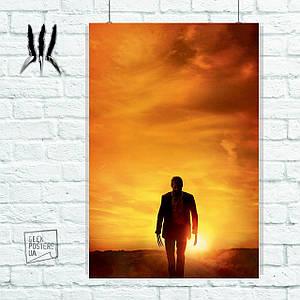 Постер Логан, закат солнца. Росомаха, Логан, The Wolverine. Размер 60x42см (A2). Глянцевая бумага