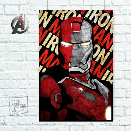 Постер Iron Man, Железный Человек. Размер 60x42см (A2). Глянцевая бумага, фото 2