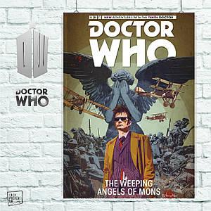 Постер Dr.Who, Доктор Кто, Weeping Angels. Размер 60x42см (A2). Глянцевая бумага
