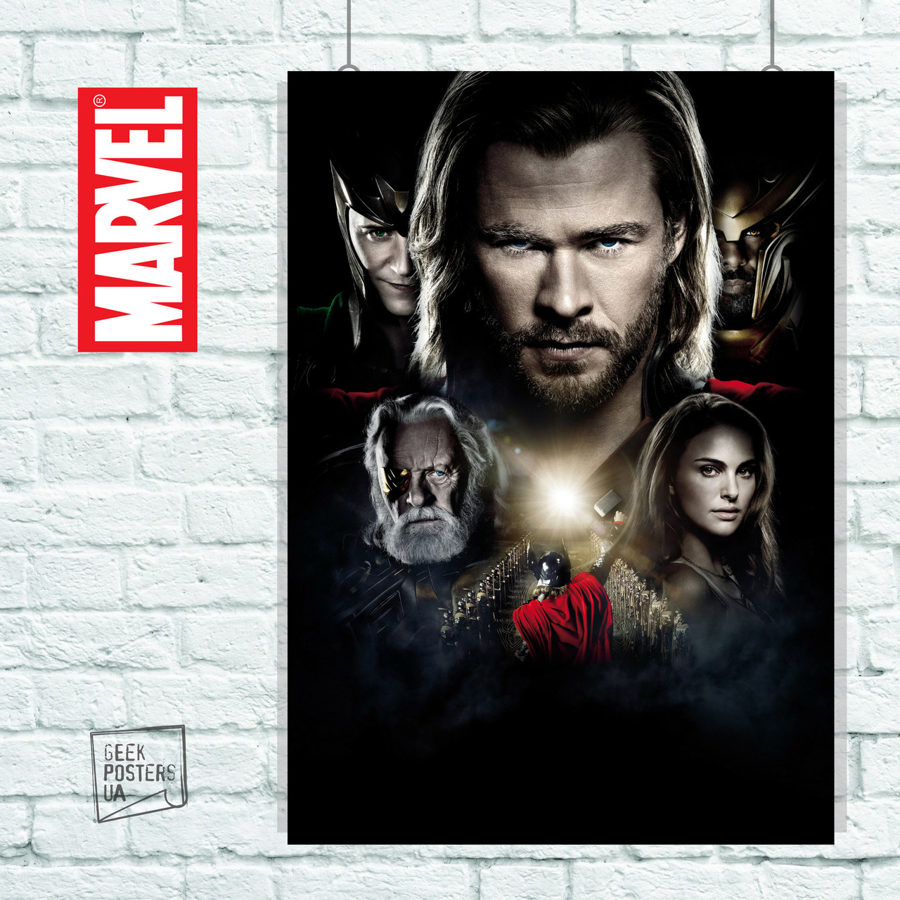 Постер Thor: The dark world, Тор: Тёмный Мир. Размер 60x42см (A2). Глянцевая бумага