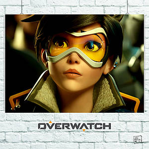 Постер Трейсер из Overwatch, Овервотч, Дозор (60x85см)