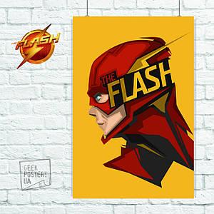 Постер Flash, Флэш, на жёлтом фоне (60x85см)