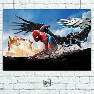 Постер Spider-Man Homecoming, Человек-Паук: Возвращение домой. Размер 60x42см (A2). Глянцевая бумага