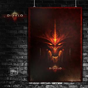Постер Diablo 3, Дьябло 3. Размер 60x42см (A2). Глянцевая бумага