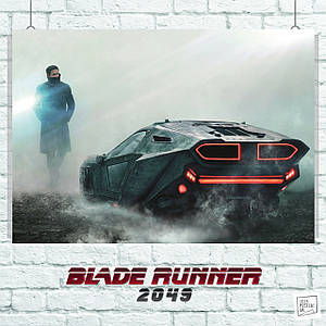 Постер Бегущий по лезвию, Blade Runner (у машины). Размер 60x42см (A2). Глянцевая бумага