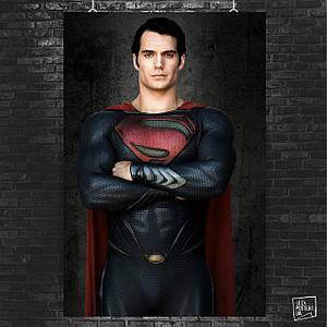 Постер SuperMan, Man of Steel, Супермэн, Человек из стали. Размер 60x42см (A2). Глянцевая бумага