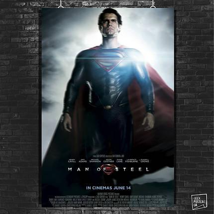 Постер Человек из стали, Супермэн, SuperMan, Man of Steel. Размер 60x42см (A2). Глянцевая бумага, фото 2