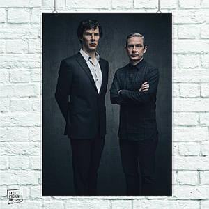 Постер Шерлок и Ватсон, Sherlock. Размер 60x42см (A2). Глянцевая бумага